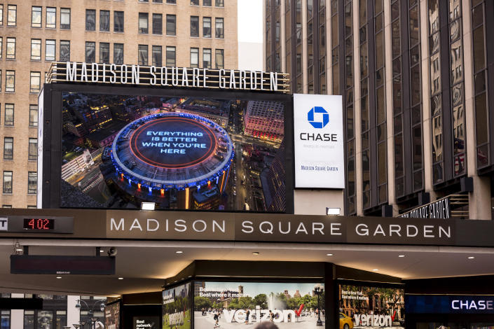 New York Knicks and New York Rangers join together to welcome fans back to Madison Square Garden. / Credit: MSG Sports via AP