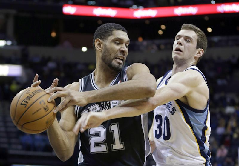 Ginobili lifts Spurs past Grizzlies 110-108 in OT