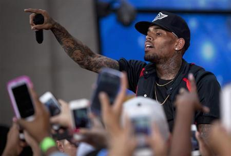 Chris Brown performs on NBC's 'Today' show at Rockefeller Center in New York
