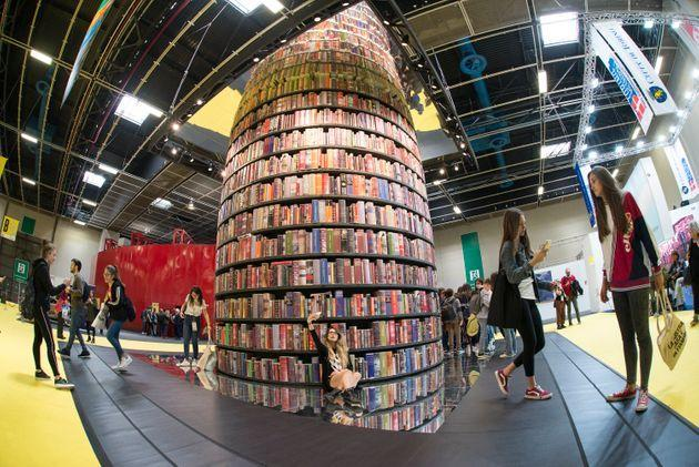 ITALY, TURIN, PIEDMONT - 2019/05/09: Overview inside the book fair during of the Turin International Book Fair. The Turin International Book Fair is the most important Italian event in the field of publishing, taking place at the Lingotto Fiere congress center in Turin once a year, in the month of May. (Photo by Stefano Guidi/LightRocket via Getty Images) (Photo: Stefano Guidi via LightRocket via Getty Images)