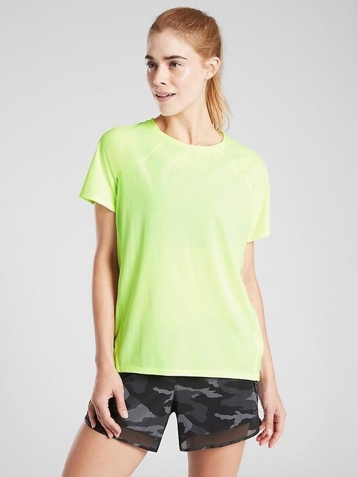 <p>The <span>Athleta Ultimate Train Tee</span> ($30-$59, originally $59) is well-suited for a wide range of workouts and, if you're lucky, you may see a favorite color on sale now. </p>