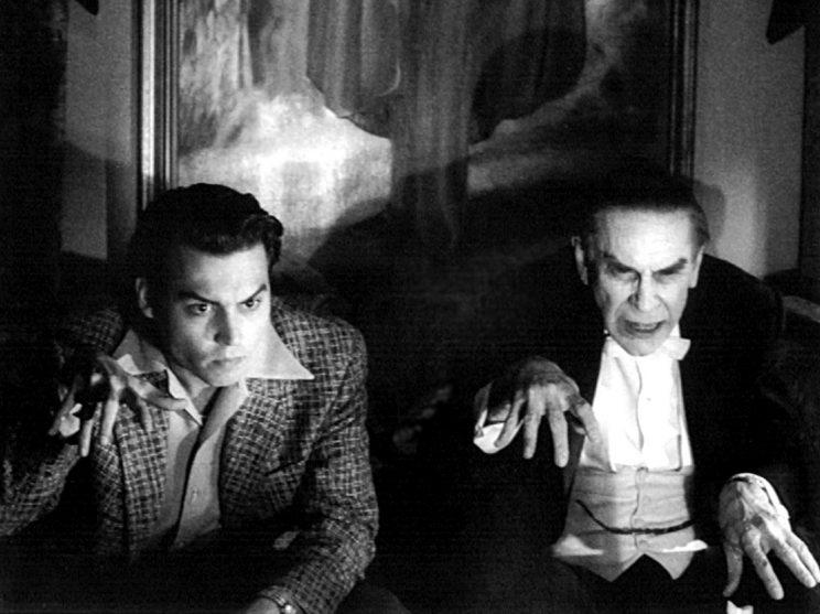 Johnny Depp as Ed Wood and Martin Landau as Bela Lugosi in Tim Burton's Ed Wood