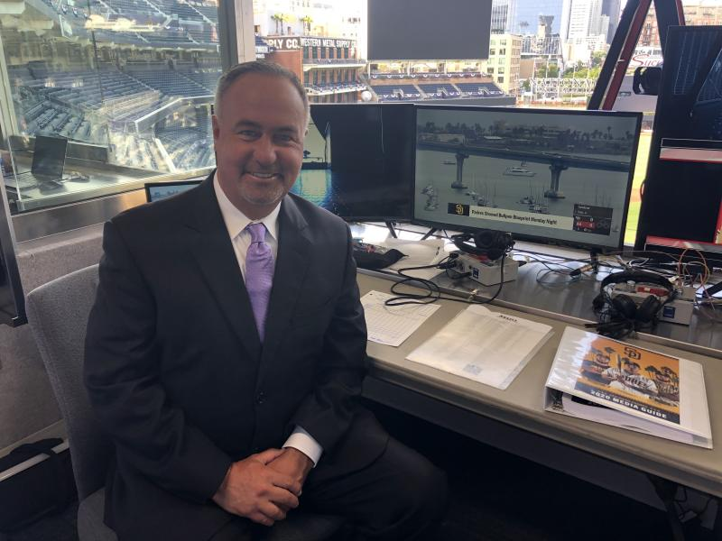 Padres broadcaster Don Orsillo coined 'Slam Diego' as the thrilling home squad is making waves in a shortened 2020 season. (Photo courtesy Don Orsillo)