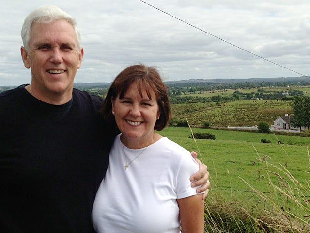 Mike Pence and his wife Karen traveled to Ireland with their children in 2013 to learn more about the family's Irish roots.