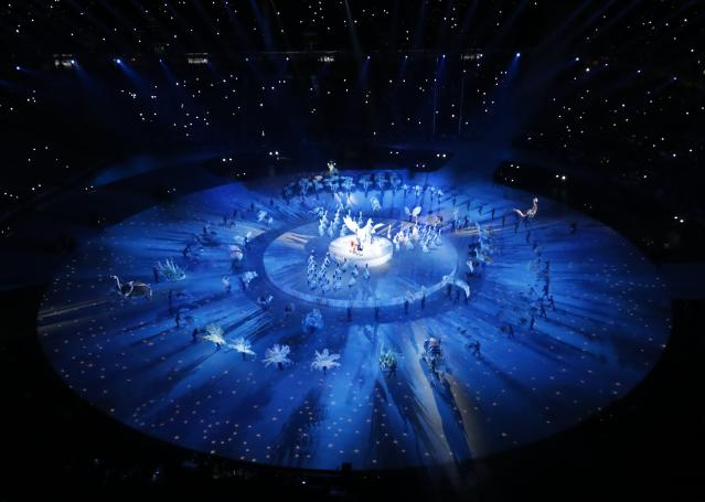 <p>Pyeongchang 2018 Winter Olympics – Opening ceremony – Pyeongchang Olympic Stadium – Pyeongchang, South Korea – February 9, 2018 – A general view shows the opening ceremony. REUTERS/Pawel Kopczynski </p>