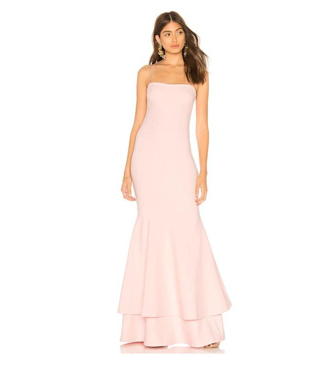 "<p>Aurora Gown, $398<a href=""http://www.revolve.com/likely-aurora-gown-in-white/dp/LIKR-WD248/?d=Womens§ionURL=http%3A%2F%2Fwww.revolve.com%2Fwedding%2Fbride%2F"" rel=""nofollow noopener"" target=""_blank"" data-ylk=""slk:, likely.com"" class=""link rapid-noclick-resp"">, likely.com</a> </p>"