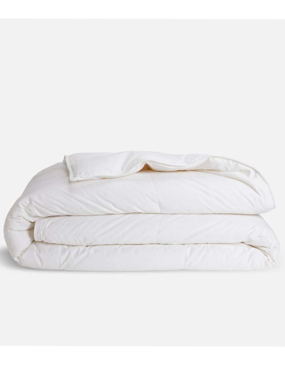"""Brooklinen launched comforters a few months back, and this medium-weight down option is perfect year-round. It really took my bedding and sleep situation to the next level, so I'm going to get one for my mom while it's 20% off. —<em>E.P.</em> $349, Brooklinen. <a href=""""https://www.brooklinen.com/collections/comforters/products/down-comforter?variant=32865296875610"""" rel=""""nofollow noopener"""" target=""""_blank"""" data-ylk=""""slk:Get it now!"""" class=""""link rapid-noclick-resp"""">Get it now!</a>"""