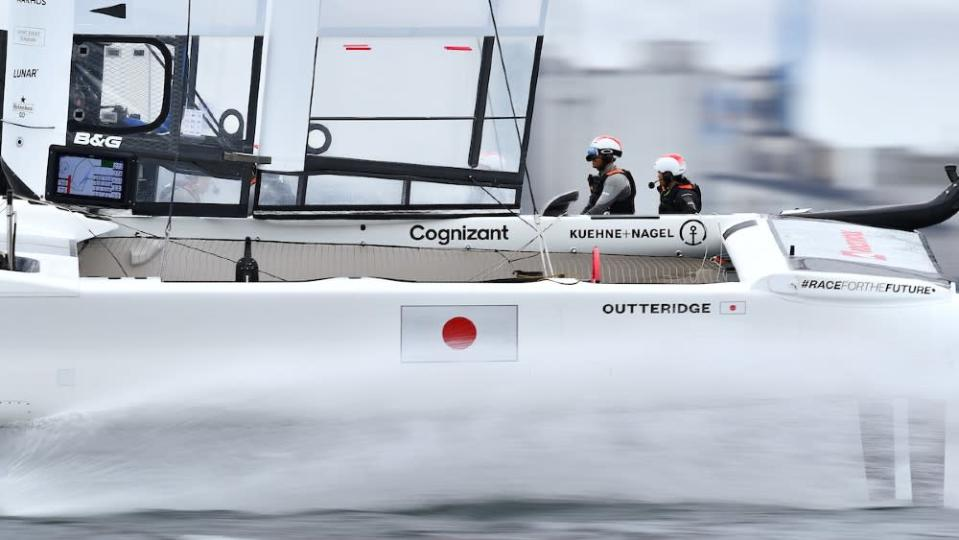 The boats are designed for turn-on-a-dime maneuvering with the ability to reach 60 mph. - Credit: Courtesy SailGP