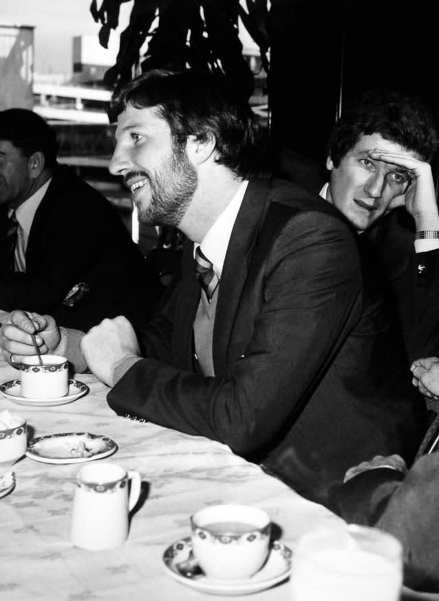 Willis and captain Botham at Heathrow airport before the England cricket party left for a three month tour of the West Indies in 1981 (PA)