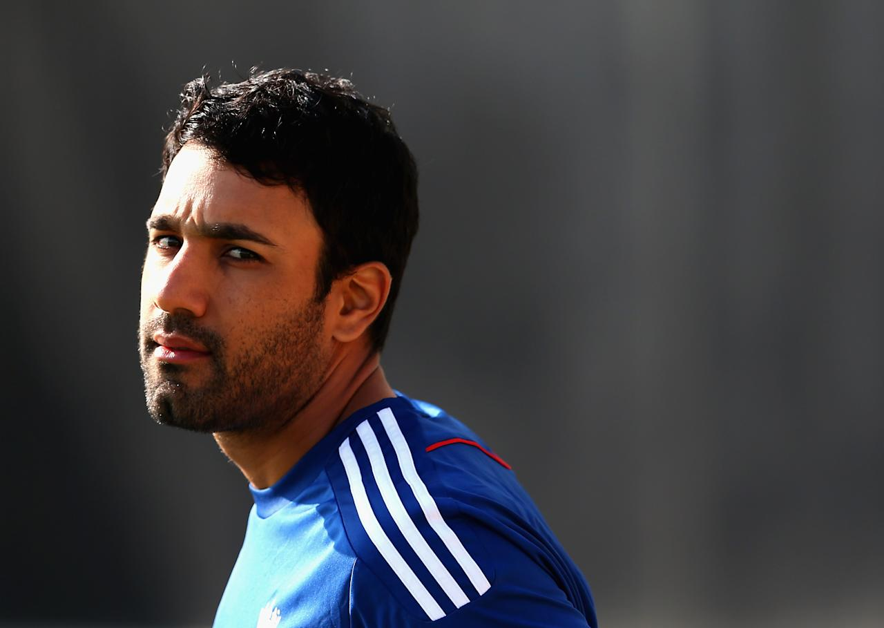 SOUTHAMPTON, ENGLAND - AUGUST 28:  Ravi Bopara of England looks on during nets practice session at Ageas Bowl on August 28, 2013 in Southampton, England.  (Photo by Julian Finney/Getty Images)