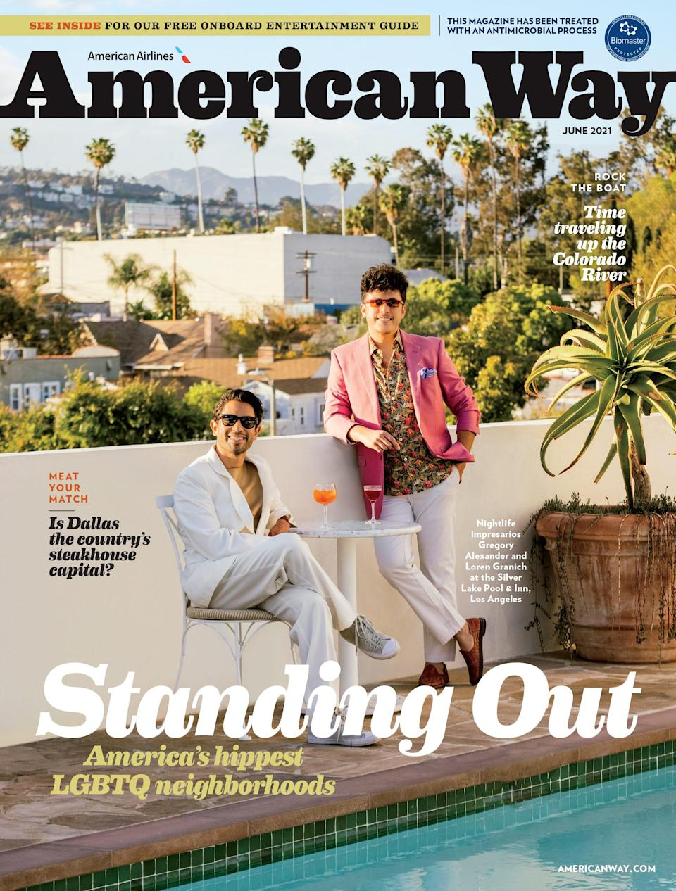 The latest issue of American Airlines' inflight magazine features a story on LGBTQ neighborhoods across the country and the Colorado River