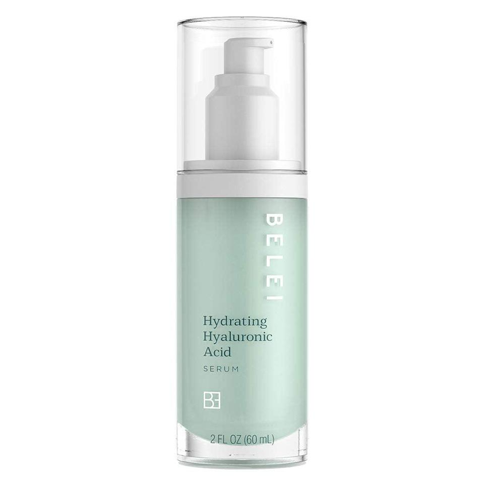 """<h3><h2>Hydrating Hyaluronic Acid Serum</h2></h3><br>""""This is a good basic serum. It's lightweight and mild, but does seem to soothe and hydrate my skin. I personally like to wear it under makeup, or mixed into a foundation to sheer it out a bit."""" — Karina Hoshikawa, Beauty & Wellness Market Writer<br><br><strong>Belei</strong> Hydrating Hyaluronic Acid Serum, $, available at <a href=""""https://amzn.to/3gzmcj7"""" rel=""""nofollow noopener"""" target=""""_blank"""" data-ylk=""""slk:Amazon"""" class=""""link rapid-noclick-resp"""">Amazon</a>"""