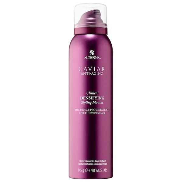 <p>Not only does this <span>Alterna Haircare Caviar Anti-Aging Clinical Densifying Styling Mousse</span> ($38) add body and fullness to hair, it also guards against breakage and fallout with the brand's special anti-aging and growth complexes.</p>