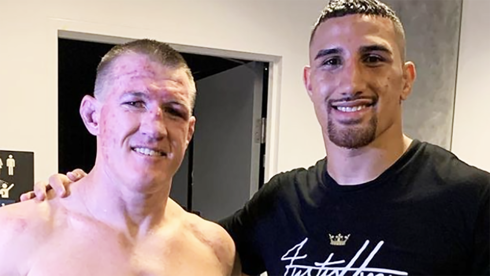 Paul Gallen has admitted the barrage of insults hurled towards Justin Huni prior to their heavyweight bout were all for show, after Huni defeated him in the 10th round. Picture: Instagram