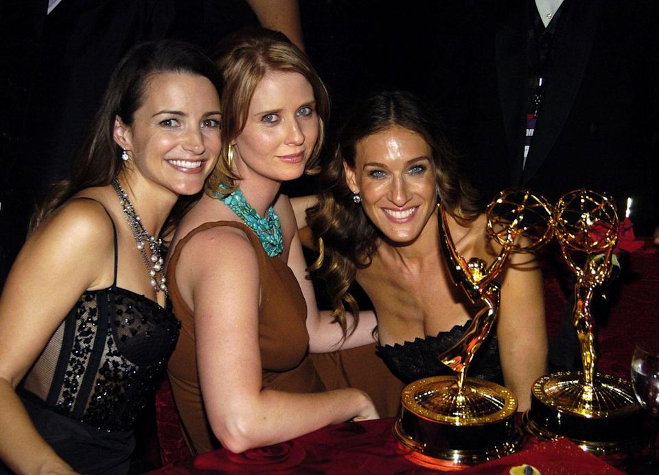 """<p>The report also addressed the 2004 Emmy Awards where Parker, Nixon, and Davis all sat together while Cattrall sat by herself. In response, Cattrall said, """"Are we the best of friends? No. We're professional actresses. We have our own separate lives.""""</p>"""