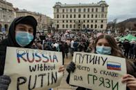 Navalny's arrest sparked large protests across Russia
