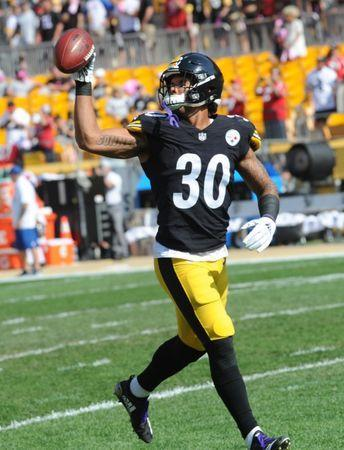 FILE PHOTO: SOct 7, 2018; Pittsburgh, PA, USA; Pittsburgh Steelers running back James Conner (30) before playing the Atlanta Falcons at Heinz Field. Mandatory Credit: Philip G. Pavely-USA TODAY Sports