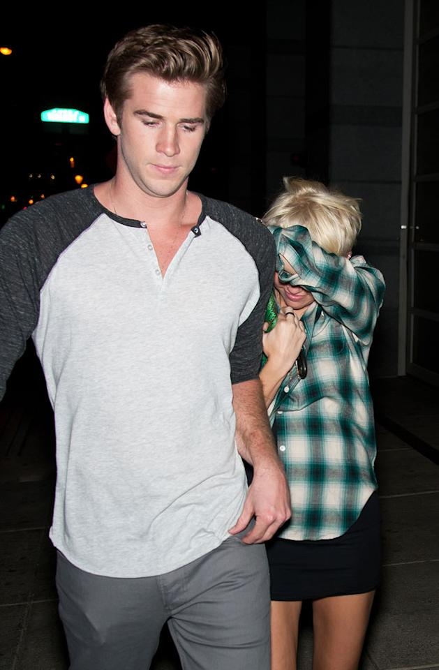"Miley Cyrus and Liam Hemsworth ""had a huge fight"" after he let slip that he ""used to have a crush"" on actress Teresa Palmer, reports <em>Star</em>. The mag says Cyrus flipped out, and now ""hates"" Palmer. For more on Cyrus' jealous outburst, and what she's actually done to Palmer, check out what a Hemsworth pal reveals to <a target=""_blank"" href=""http://www.gossipcop.com/liam-hemsworth-crush-teresa-palmer-miley-cyrus-fight-fighting/"">Gossip Cop</a>."