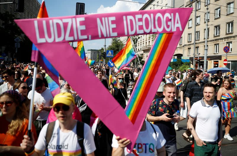 """FILE PHOTO: """"Equality Parade"""" rally in support of the LGBT community, in Warsaw"""