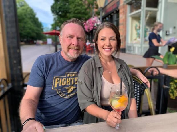 'Hanging with my daughter, Danica, on Victoria Row after 11.5 months apart,' says Doug Gallant.  (Submitted by Doug Gallant - image credit)