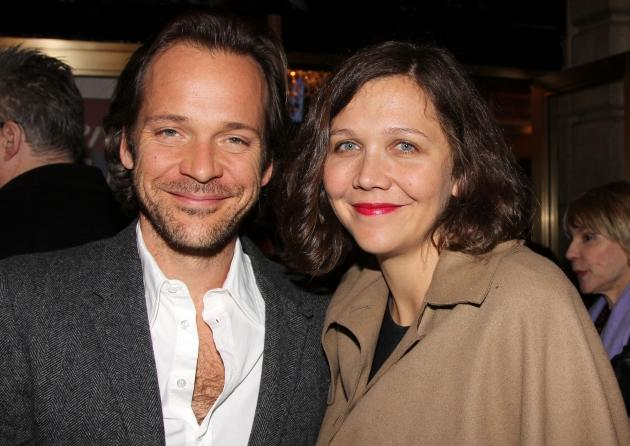 Peter Sarsgaard and Maggie Gyllenhaal are seen at the Broadway opening night of 'Death Of A Salesman' at the Barrymore Theatre in New York City on March 15, 2012 -- Getty Premium