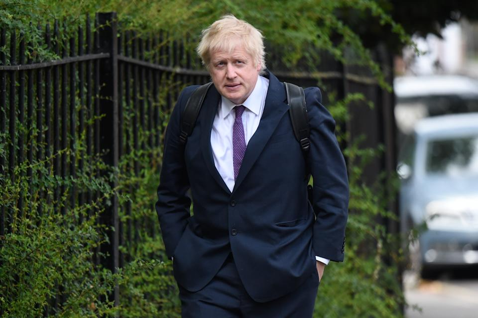 LONDON, ENGLAND - MAY 27: Boris Johnson arrives at the home of his girlfriend Carrie Symonds on May 27, 2019 in London, England. Mr Johnson is in the running for leader of the Conservative party following the announcement of Prime Minister Theresa May's resignation. (Photo by Peter Summers/Getty Images)