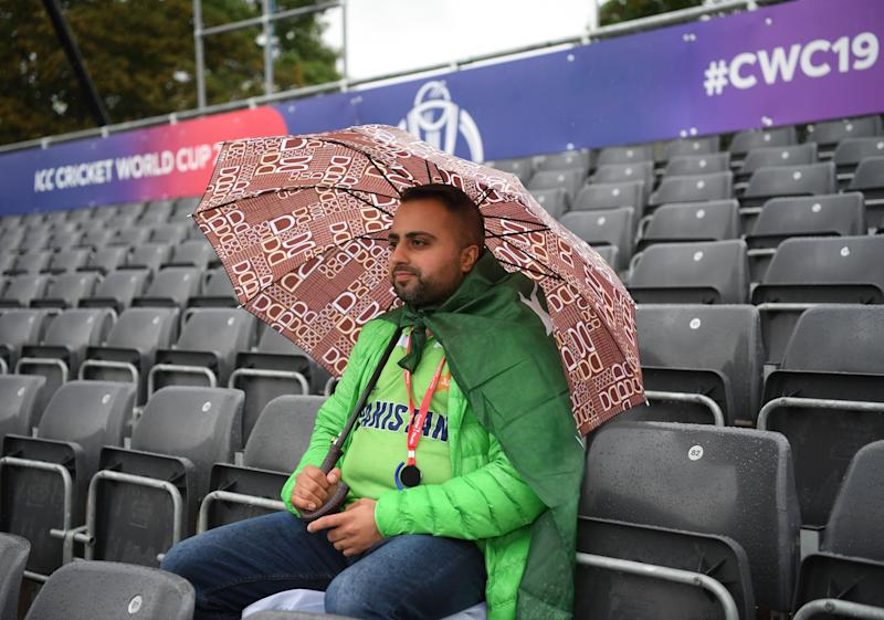 An optimistic Pakistan fan waits for the World Cup game in Bristol to get underway (Photo by Stu Forster-IDI/IDI via Getty Images)