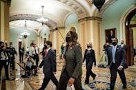 US House Delegate Stacey Plaskett, of the US Virgin Islands is part of the diverse team of House impeachment managers to try the case against Donald Trump in the Senate