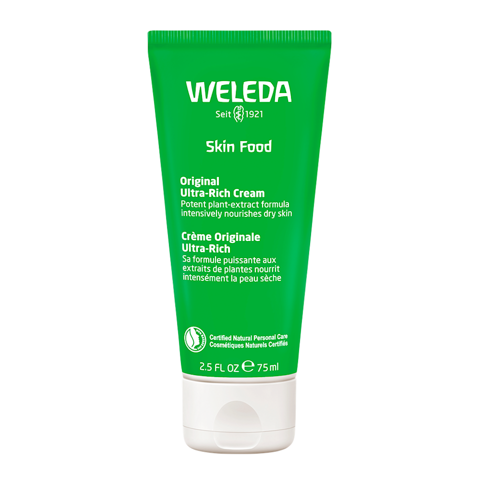 """<p>Proof that if it's not broke don't fix it: Weleda's cult-favorite moisturizer has been around for almost 100 years. The mix of beeswax, sunflower oil, and plant extracts is lightweight, but still nourishing enough to fix dry winter skin. </p><p>Buy it <a href=""""https://www.amazon.com/Weleda-Skin-Food-2-5-Ounce/dp/B000ORV3NC?ie=UTF8&camp=1789&creative=9325&linkCode=as2&creativeASIN=B000ORV3NC&tag=instycom00-20&ascsubtag=6d523b611d7027b69c2b74756aaa68ef"""">here</a> for $10.</p>"""
