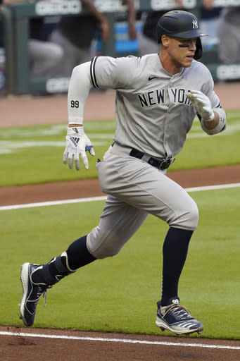 Yankees place Judge on IL, promote prospect Florial