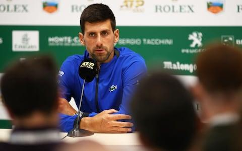 <span>Novak Djokovic believes Roger Federer will be one to watch at French Open despite his rustiness on clay</span> <span>Credit: Getty Images </span>