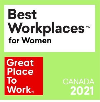 Medtronic Canada recognized among Best Workplaces for Women 2021 (CNW Group/Medtronic Canada ULC)