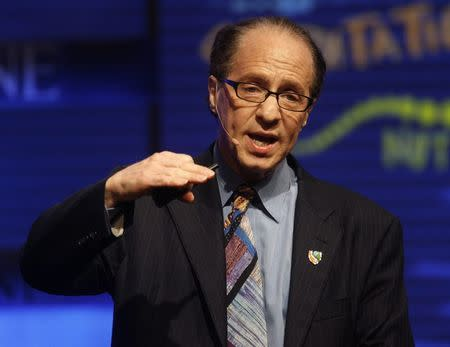 File of Inventor Raymond Kurzweil speaking at the Fortune Brainstorm Tech conference in Pasadena, California