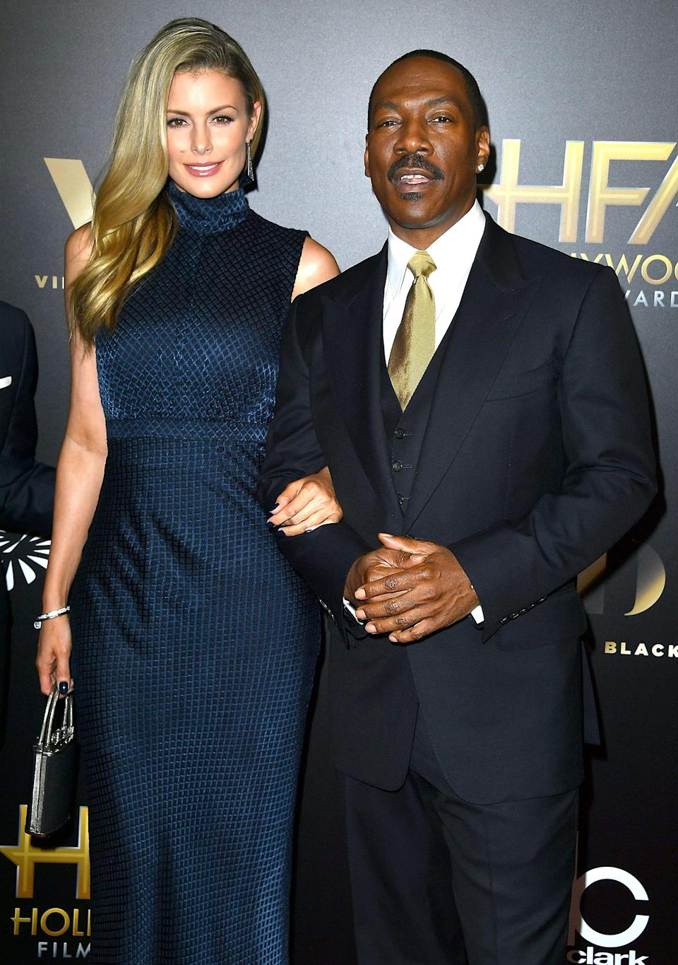 "<p><a href=""https://people.com/movies/is-eddie-murphy-engaged-paige-butcher/"" class=""link rapid-noclick-resp"" rel=""nofollow noopener"" target=""_blank"" data-ylk=""slk:The pair got engaged"">The pair got engaged</a> in September 2018. Eddie and Paige are already parents to a daughter named Izzy and a son named Max.</p>"