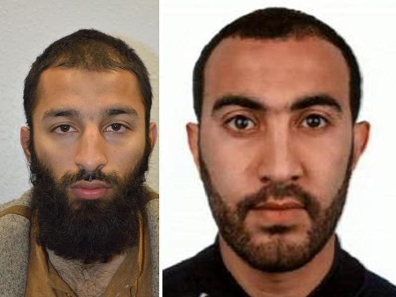 Khuram Shazad Butt, left, and Rachid Redouane, who were shot dead by police after the London Bridge terror attack (Metropolitan Police)