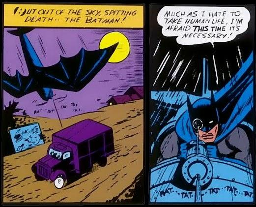 Batman wasn't adverse to guns or killing in his earliest comic book appearances (Photo: DC Comics)