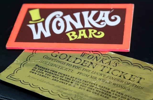 Golden ticket up for auction