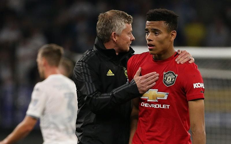 Mason Greenwood scored his first senior goal for Manchester United in a pre-season friendly against Leeds on Wednesday - Getty Images AsiaPac