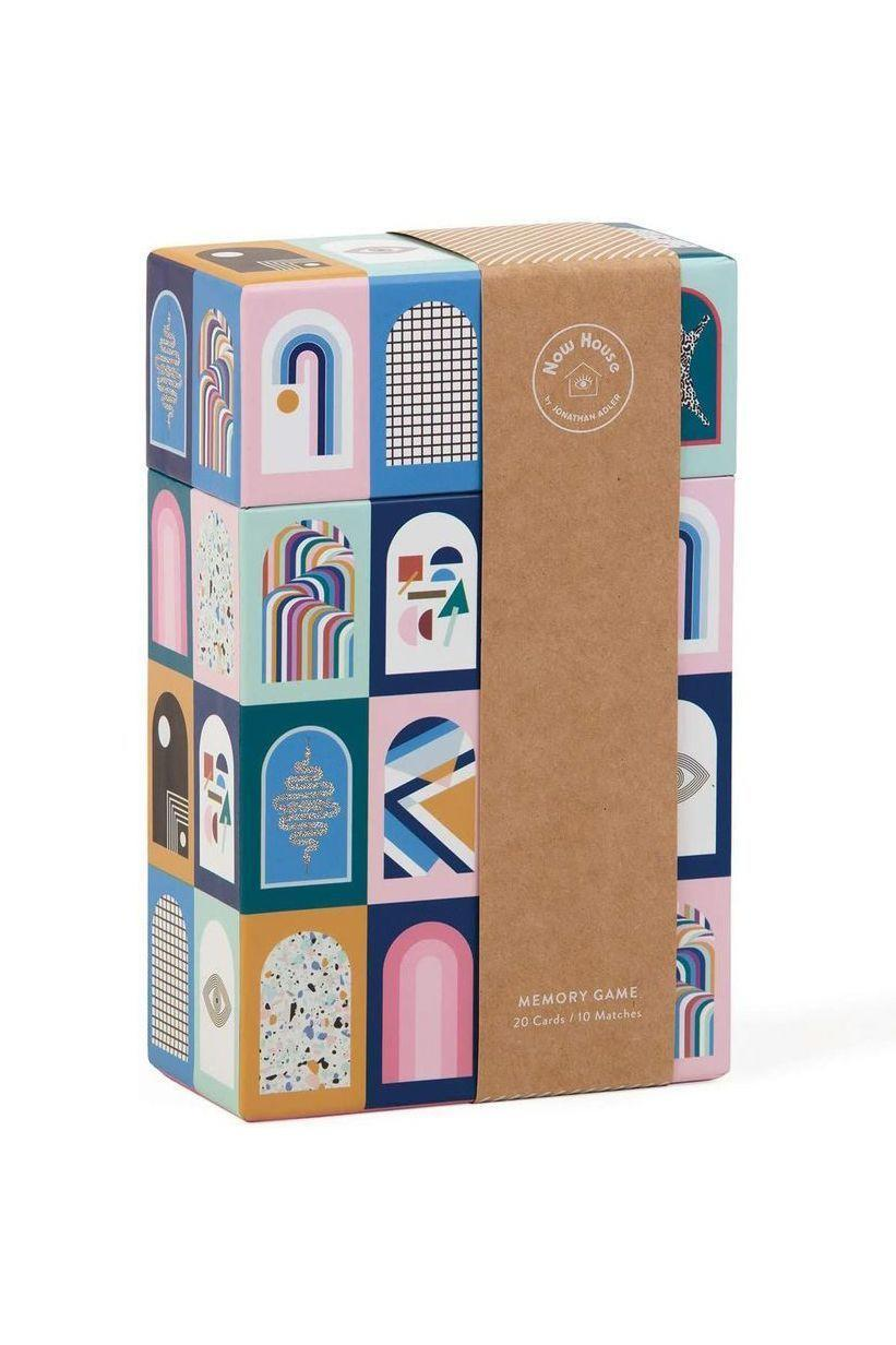 """<p><strong>Now House by Jonathan Adler</strong></p><p>amazon.com</p><p><strong>$19.99</strong></p><p><a href=""""https://www.amazon.com/dp/0735362521?tag=syn-yahoo-20&ascsubtag=%5Bartid%7C10051.g.13053688%5Bsrc%7Cyahoo-us"""" rel=""""nofollow noopener"""" target=""""_blank"""" data-ylk=""""slk:Shop Now"""" class=""""link rapid-noclick-resp"""">Shop Now</a></p><p>If you're after a gift for a family with kiddos, this aesthetically pleasing memory game will come in handy when they're bored in the house (bored in the house, bored).</p>"""
