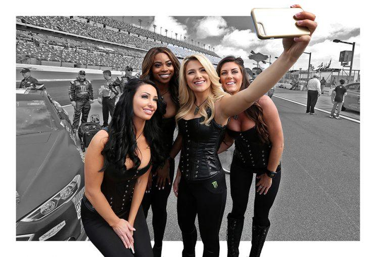 Nascar Fans Suddenly Upset By Monster Energy Girls Revealing Outfits
