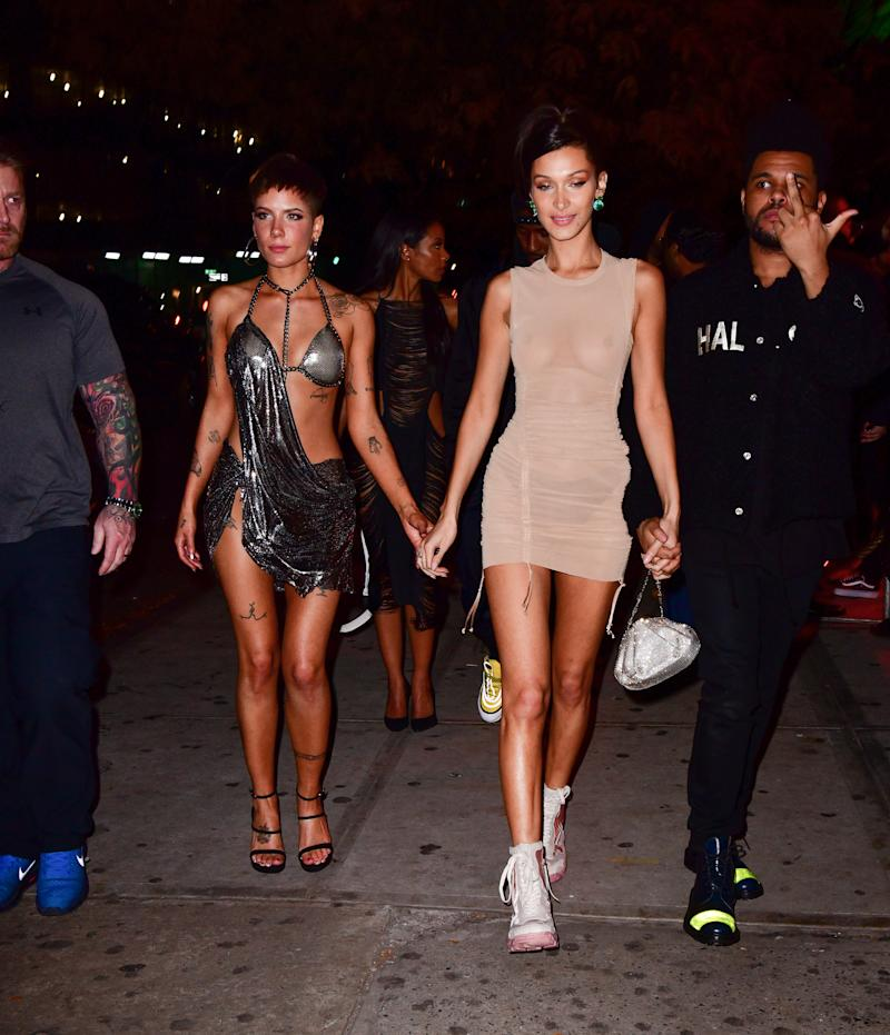 Bella Hadid dons see-through dress at Victoria's Secret after-after party