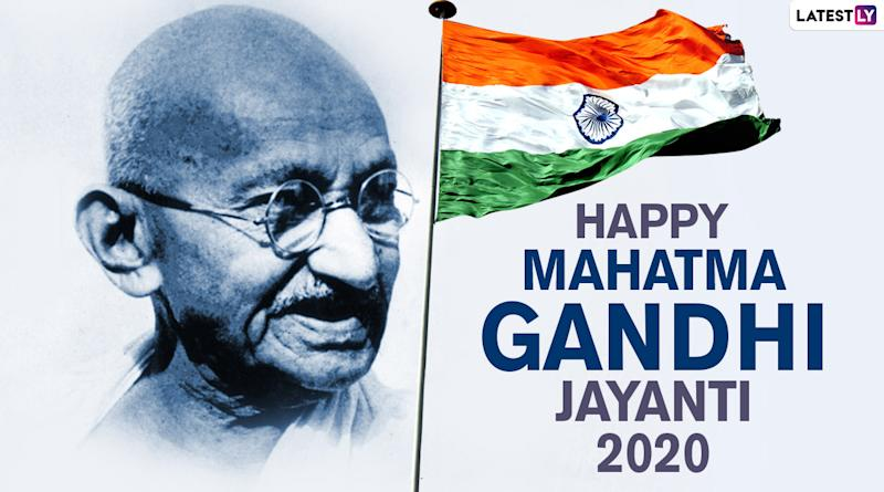 Happy Gandhi Jayanti 2020 Images And Hd Wallpapers For Free Download Online Whatsapp Stickers Facebook Messages And Gifs To Celebrate 151st Birth Anniversary Of Mahatma Gandhi
