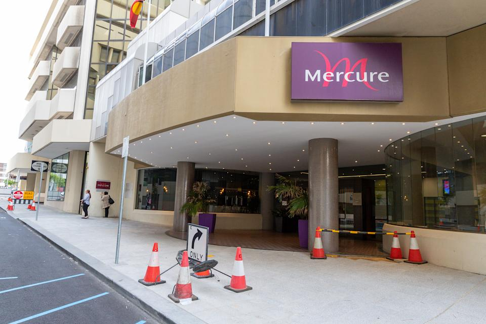 A general view of the Mercure Hotel Perth in Perth.
