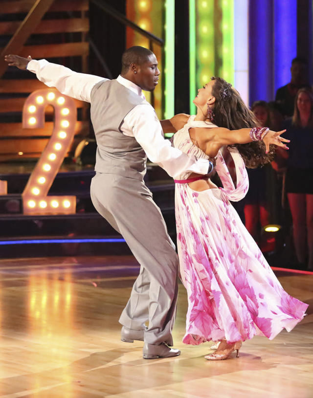 """Jacoby Jones and Karina Smirnoff perform on """"Dancing With the Stars."""""""