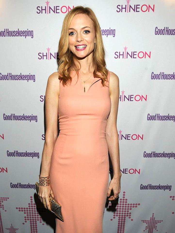 """""""The Hangover's"""" Heather Graham, 41, was as pretty as ever in a form-fitting frock and minimal accessories. Kevin Mazur/<a href=""""http://www.wireimage.com"""" target=""""new"""">WireImage.com</a> - April 12, 2011"""