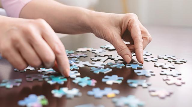 Doing a jigsaw puzzle may help keep your mind active if cabin fever sets in. (Getty Images)