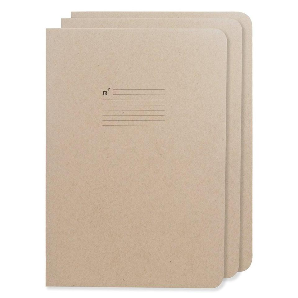 <p>These <span>Northbooks USA Eco Notebooks</span> ($22 for 3) are printed on recycled paper, so you can breathe easy. </p>