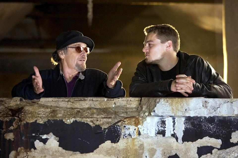 "Jack Nicholson (left) plays a Boston mobster and Leonard DiCaprio is the undercover cop tasked to infiltrate his gang in ""The Departed."""