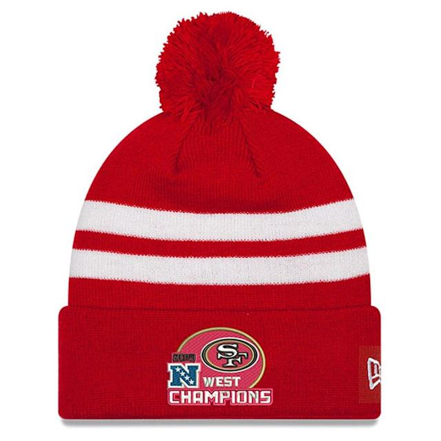 49ers 2019 NFC West Division Champions Pom Knit Hat