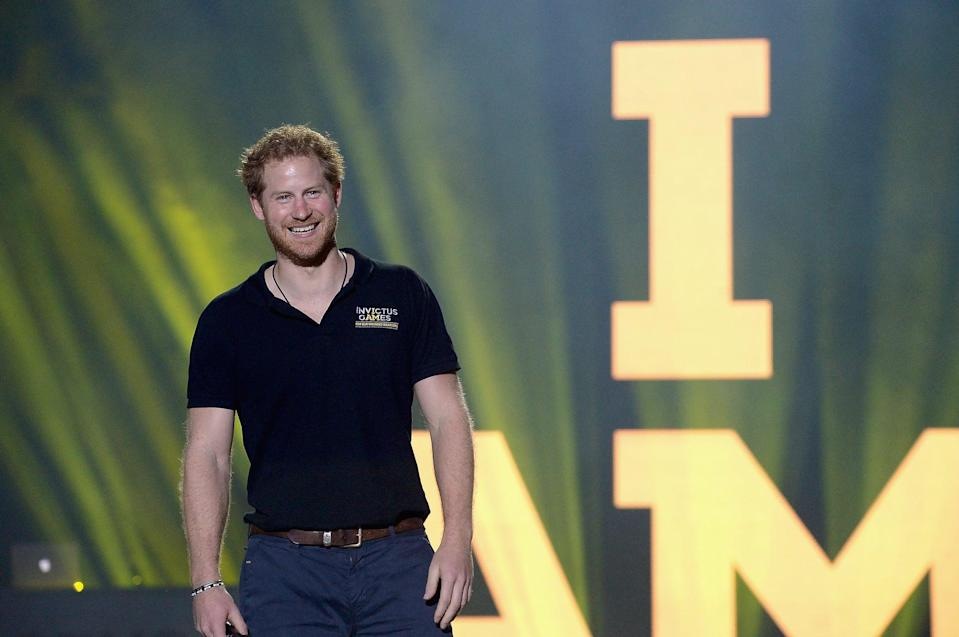 LAKE BUENA VISTA, FL - MAY 12:  Prince Harry closing remarks during the Invictus Games Orlando 2016 - Closing Ceremony at ESPN Wide World of Sports Complex on May 12, 2016 in Lake Buena Vista, Florida.  (Photo by Gustavo Caballero/Getty Images for Invictus Games)